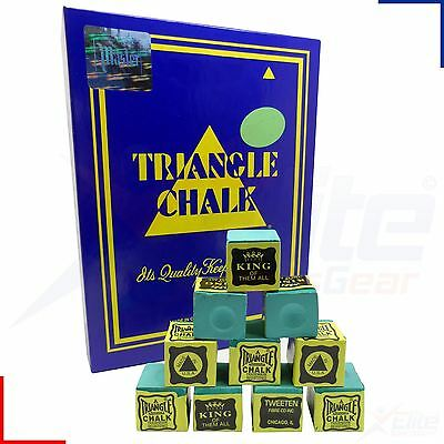 12 Cubes Green Triangle Snooker Pool Billiards Cue Tournament Chalk