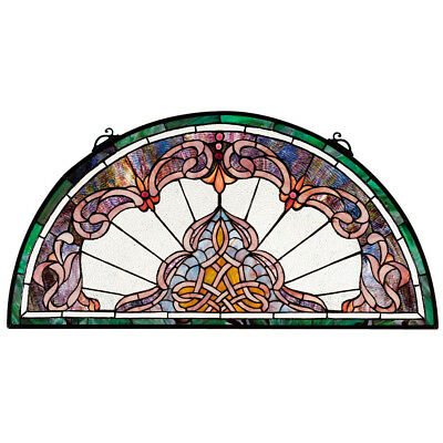 Design Toscano Lady Astor Demi Lune Stained Glass Window