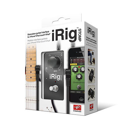 NEW IK Multimedia iRig Stomp Stomboc Guitar Interface for Mobile Devices