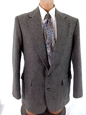 Imperial By Haggar Mens Gray Wool Suit Jacket Size 42R