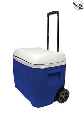 IGLOO Island Breeze 60 Roller Coolbox - Blue/White - 00045813