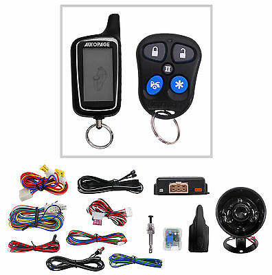 New Autopage RS6652WA 2-way Car Alarm+Remote Start Starter w/ LCD Pager