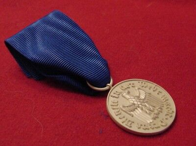 German Wwii Medal - Wehrmacht 12 Year Faithful Service Medal  On Ribbon