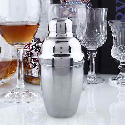 250ml Stainless Steel Cocktail Shaker Drink Mixer Bar Set Tool Martini