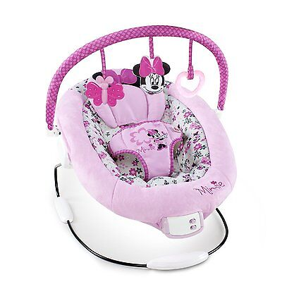 Disney Minnie Mouse Garden Delights Bouncer (60578-3-W11) hand for easy access