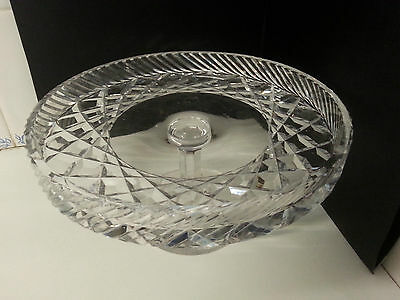 Lovely quality crystal glass footed cake stand.