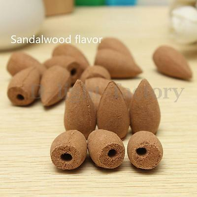 50pcs Natural Bullet Sandalwood Fragrance Incense Backflow Cones Tower Buddhism