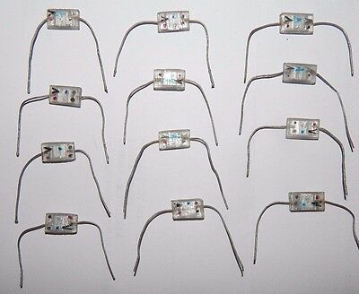 12 PIECES CORNING AVX GLASS CAPACITOR 680pF 300v 5% M23269/02-3039 .00068uF MIL-