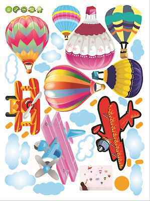 Balloon Plane Remove Living Room Children's Room Wall Stickers