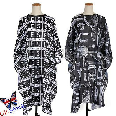 Adult Black Salon Hair Cut Hairdressing Hairdresser Barbers Cape Gown Cloth UK