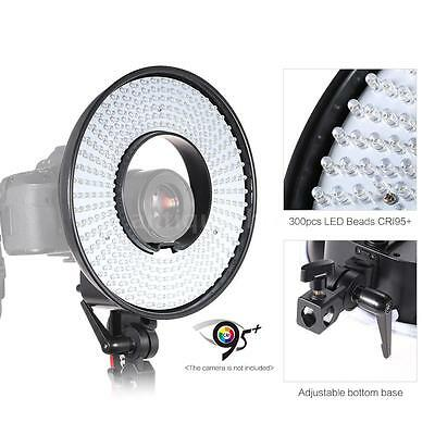 300 LED Ring Lighting Light Video Film Continuous Light with Camera Bracket S9S5
