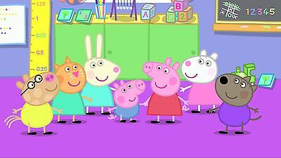 Peppa Pig At School - Framed Canvas Picture - 4 Sizes Available!