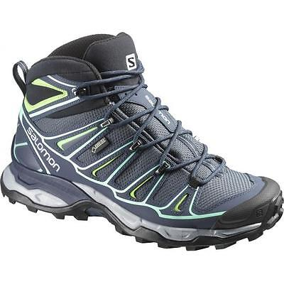Scarpe TREKKING HIKING Donna SALOMON X ULTRA MID 2 GTX W Denim UK 4.5 EU 37 1/3