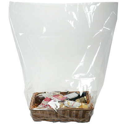 Pack Of 50 Shrinkable Cellophane Basket Bags Shrink Wrap 4 Sizes