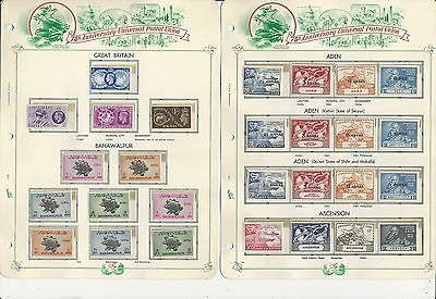 British Colonies Universal Postal Union Set 1949, Mint NH, On 23 White Ace Pages
