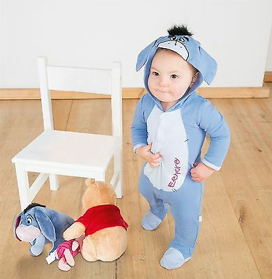 Disney Baby Eeyore Romper Jersey 0-3mths - Toddler Babies Costume Outfit