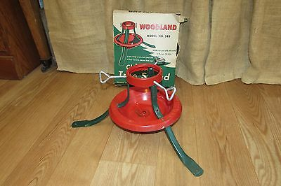 Vintage Woodland Christmas Tree Stand in Original Box #2268