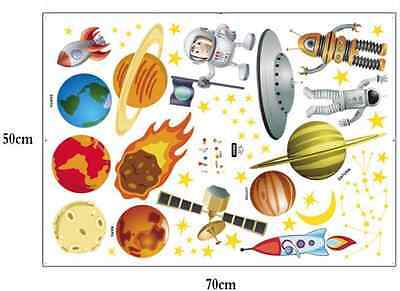 World planet Outer Space Remove Children's Room Wall Stickers Vinyl Art