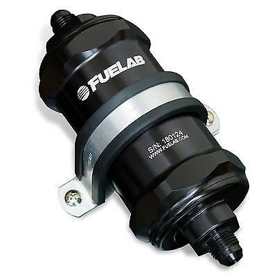 Fuelab In Line Compact Fuel Filter -8 JIC / 8AN 40 Micron Black -  81812-1