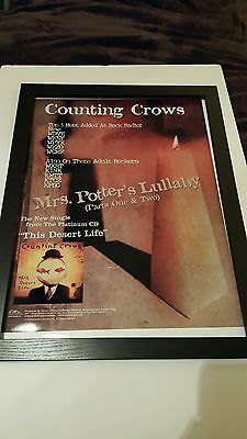 Counting Crows Mrs. Potter's Lullaby Rare Original Promo Poster Framed!