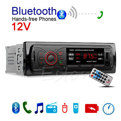 12V Car Bluetooth Stereo Music Player Hands-free Phone MP3/FM/SD/AUX Radio