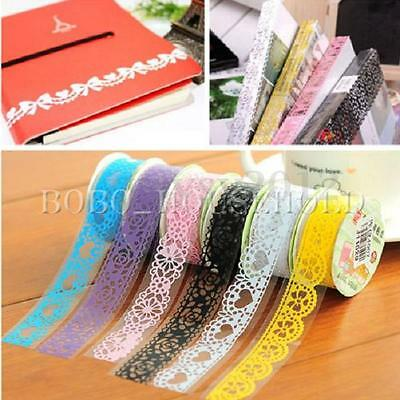 Lace Tape Washi Self Adhesive Label Diary Sticker Scrapbooking Paper Decorating
