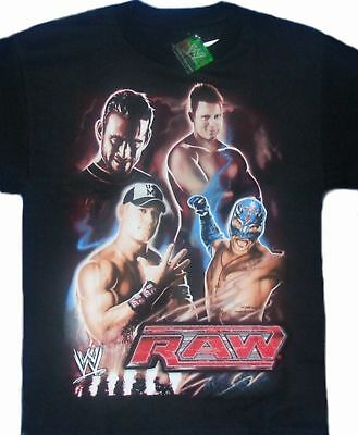 WWE John Cena Rey Mysterio Color Change Child T-Shirt 6-7 S 8 M 14 16 XL New