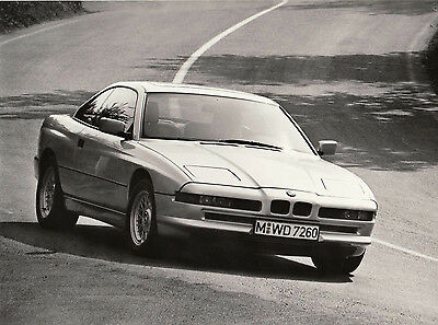 THE NEW BMW COUPE 850i PERIOD PHOTOGRAPH.
