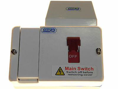 80 amp fused main switch SPN switchfuse 80A HRC fuse, optional cable shroud