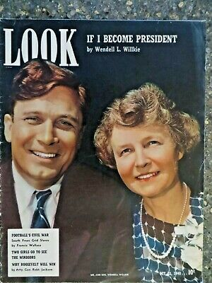 1940 October 22 Look Magazine  Willkie For President VINTAGE ADS Irene Dunne