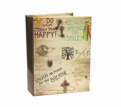 Life inspirational Slogans Slip In  6x4'' Photo Album for 100 Photos -AL-9564