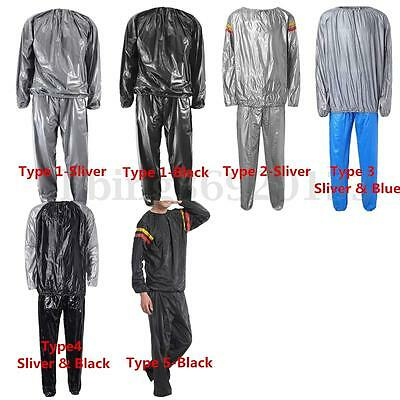 6 Type Sauna Sweat Suit Heavy Duty Weight Loss Anti Rip Fitness Exercise Gym UK