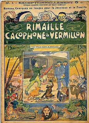 Rimaille, Cacophone & Vermillon Paddy Pad Ed. Ferenczy vers 1900 BE Rare!