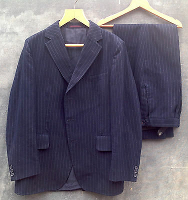 Austin Reed vintage pin stripe suit from the 1970s 100 per cent wool