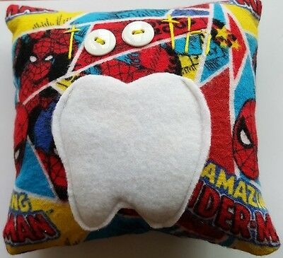 Amazing Spider-Man SuperHero Comic Red Boys Tooth Fairy Pillow