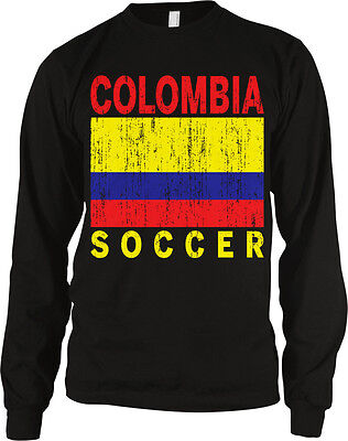 Distressed Colombia Soccer Flag Country Colors Colombian Pride Hoodie Pullover