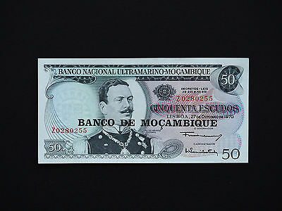 Mozambique Superb Large Series  50  Escudos Notes   *  Mint Unc  *   Date  1970