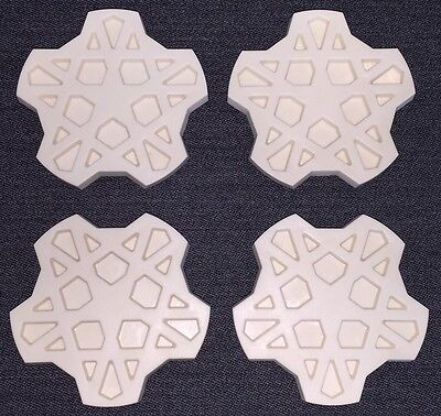 FORD XE ESP Fairmont Ghia SNOWFLAKE 4 set centre cap NEW INJECTION MOULDED ABS