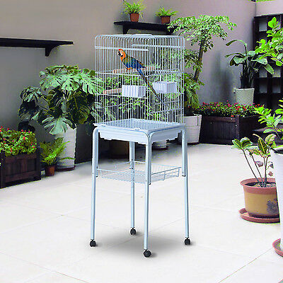 "PawHut 51"" Bird Cage Large Parrot Macaw Finch Cockatoo Play Top Pet Feeding Tray"