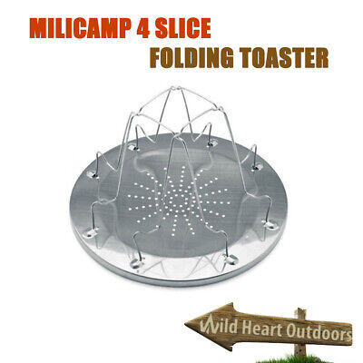4 Slice Folding Toaster Outdoor Cooking Camping Hiking Fishing BNE Stock