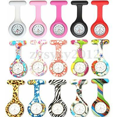 Silicone Gel Infirmier Montre Quartz Pince Épingle Broche Attache Poche Tunique