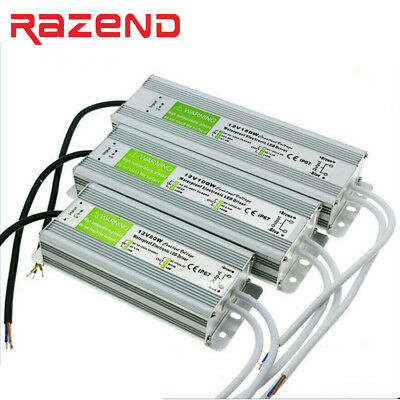 DC 12V 24V IP67 Waterproof Transformer Power Supply Adapter LED Driver 200W 250W