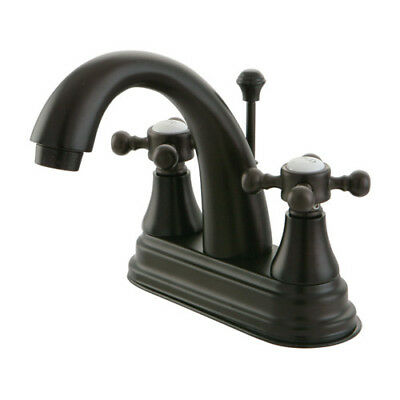 Kingston Brass English Vintage Centerset Bathroom Faucet with Brass Pop-Up Drain