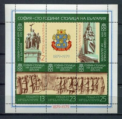 37876) BULGARIA 1979 MNH** Centenary of Sofia as capital S/S