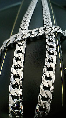 """Mens Stainless Steel Chunky Heavy Curb Chain Necklace Bracelet Set 10mm 24"""""""