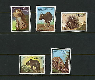 Laos  1985  #645-9  fauna animals monkey bear 5v.  MNH  G398