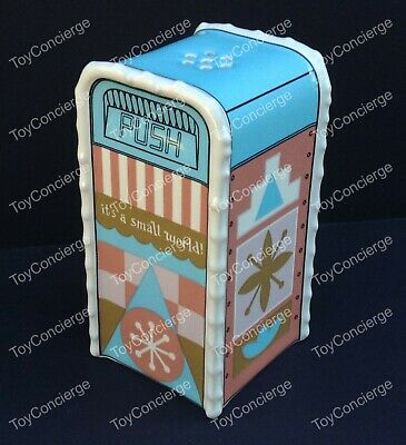 DISNEY Parks SALT or PEPPER SHAKER TRASH CAN - IT'S A SMALL WORLD - NEW