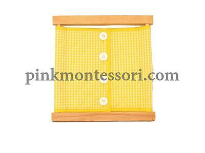 Pinkmontessori Practical Life Material - Large Buttons Dressing Frame