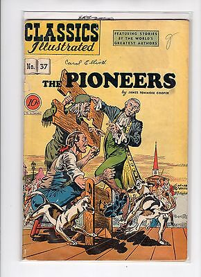 Classics Illustrated #37 HRN 37 (Original) VG- Rudy Palais, Pioneers by Cooper