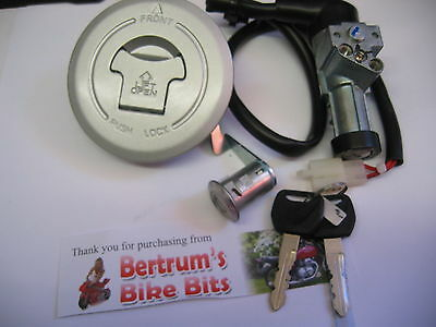 Honda Cbf 125 Cbf125  New Petrol Cap Key Ignition  Lock Set Switch